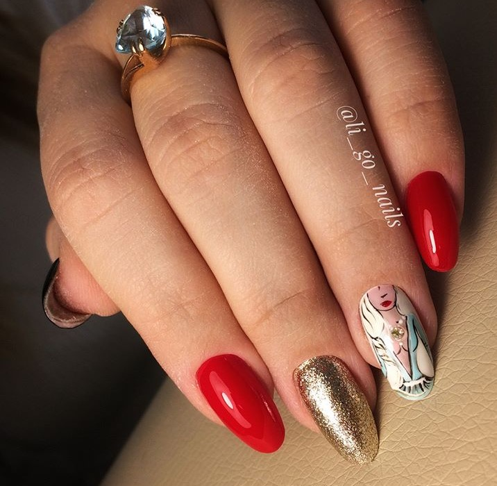 Девушка на ногтях фото 78