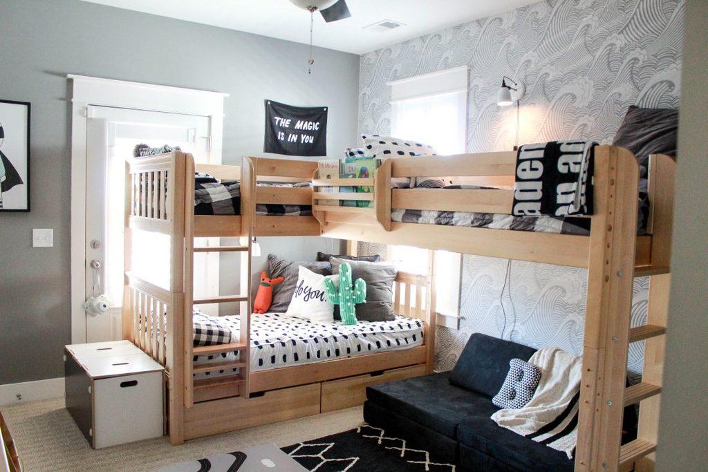 Комнаты для 3-х и более детей фото 14