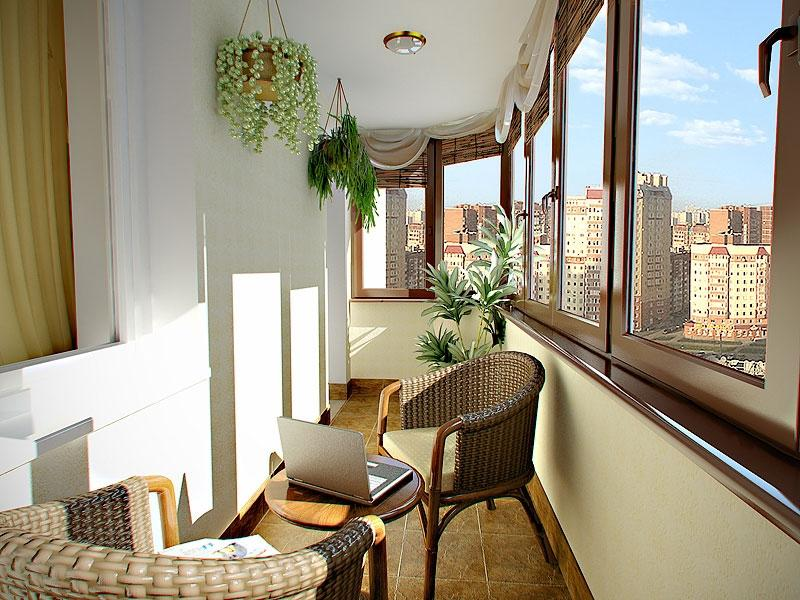 дизайн интерьера балкона фото 19