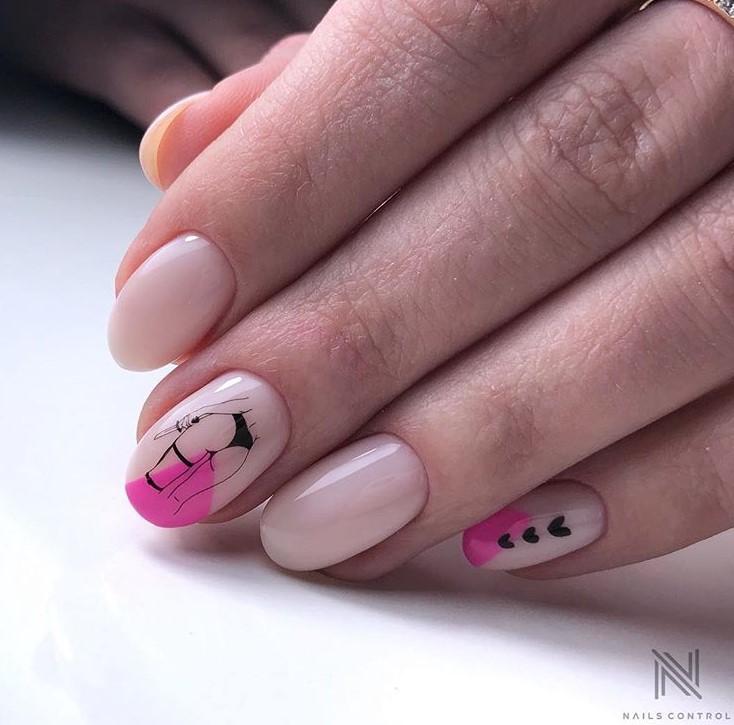 Девушка на ногтях фото 63