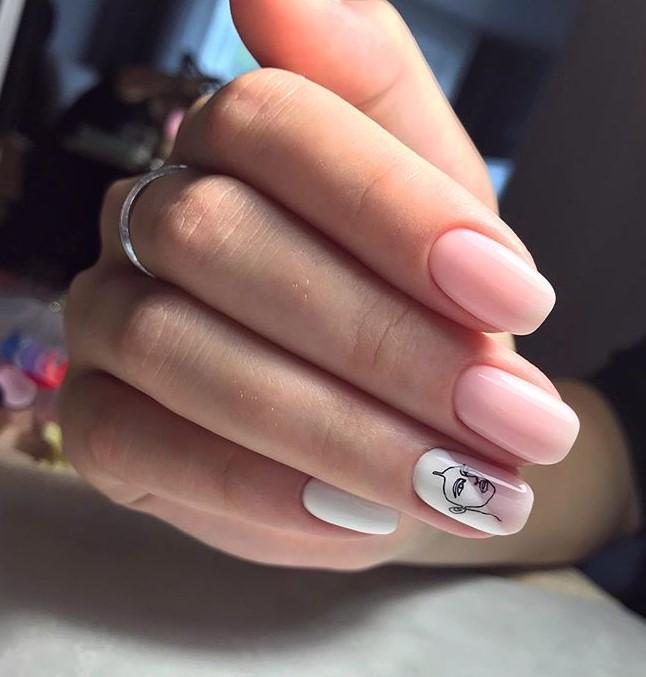 Девушка на ногтях фото 181
