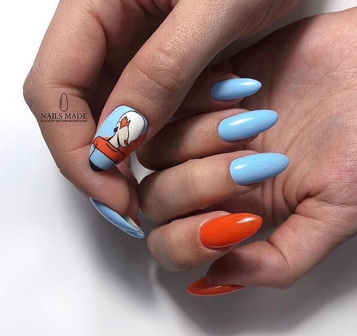 Девушка на ногтях фото 58