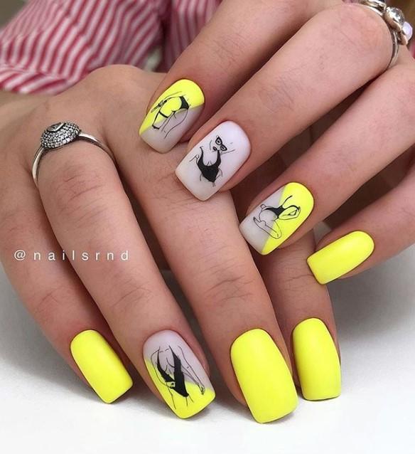 Девушка на ногтях фото 57