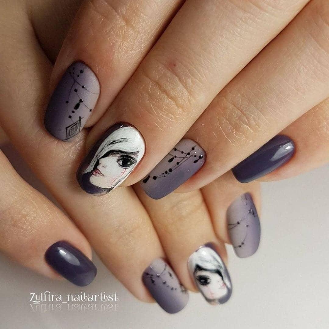 Девушка на ногтях фото 56