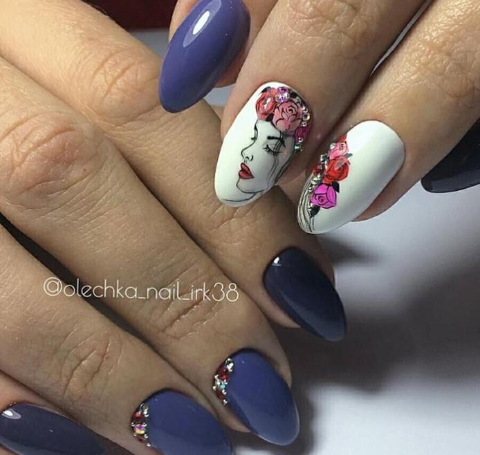 Девушка на ногтях фото 53