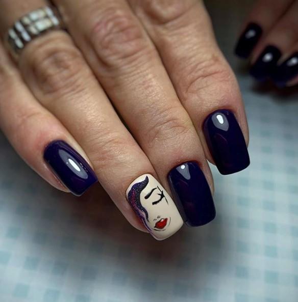 Девушка на ногтях фото 52
