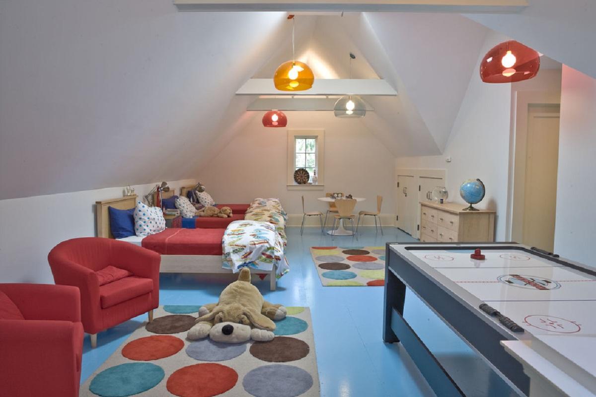 Комнаты для 3-х и более детей фото 16