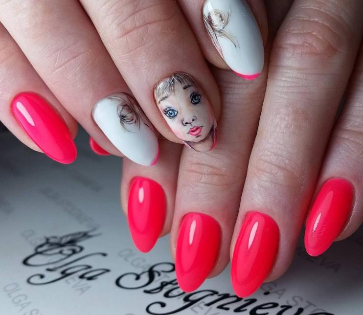 Девушка на ногтях фото 43