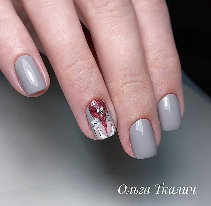 Девушка на ногтях фото 34