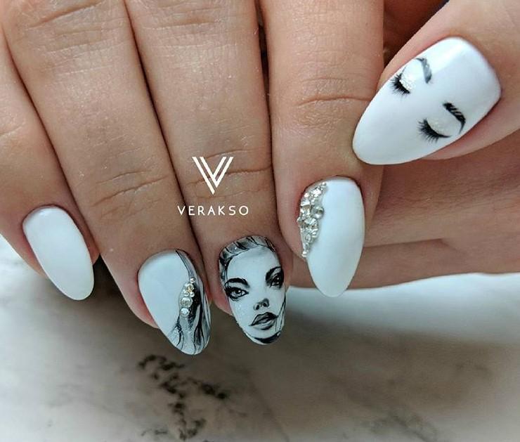 Девушка на ногтях фото 27