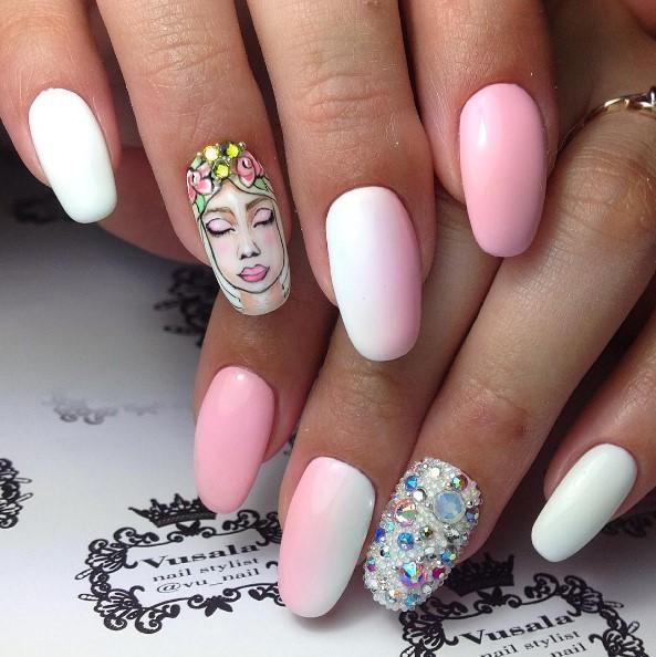 Девушка на ногтях фото 21