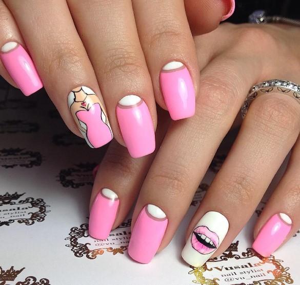 Девушка на ногтях фото 19