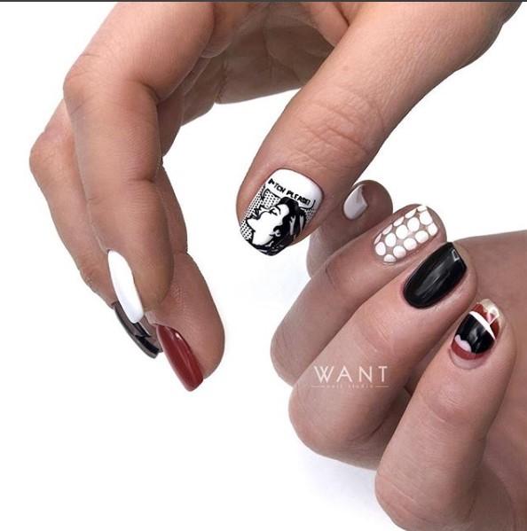 Девушка на ногтях фото 20