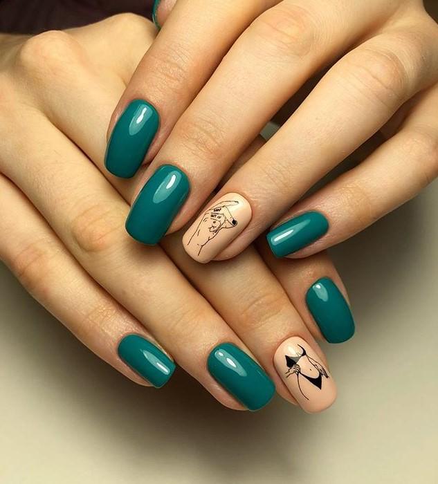 Девушка на ногтях фото 18