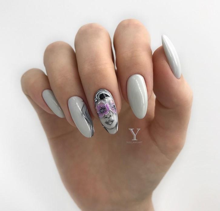 Девушка на ногтях фото 13