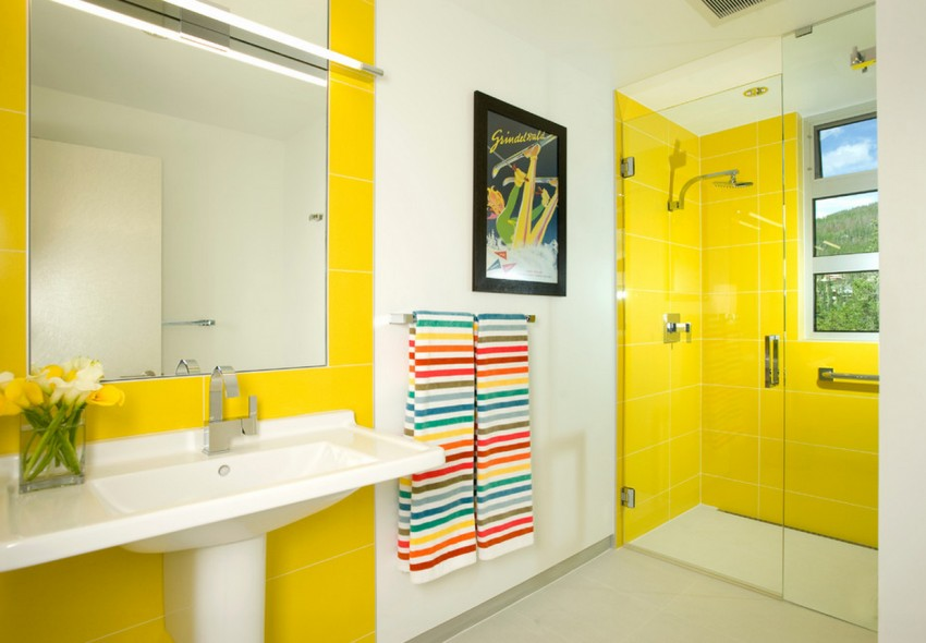 Жёлтый цвет в интерьере фото 19