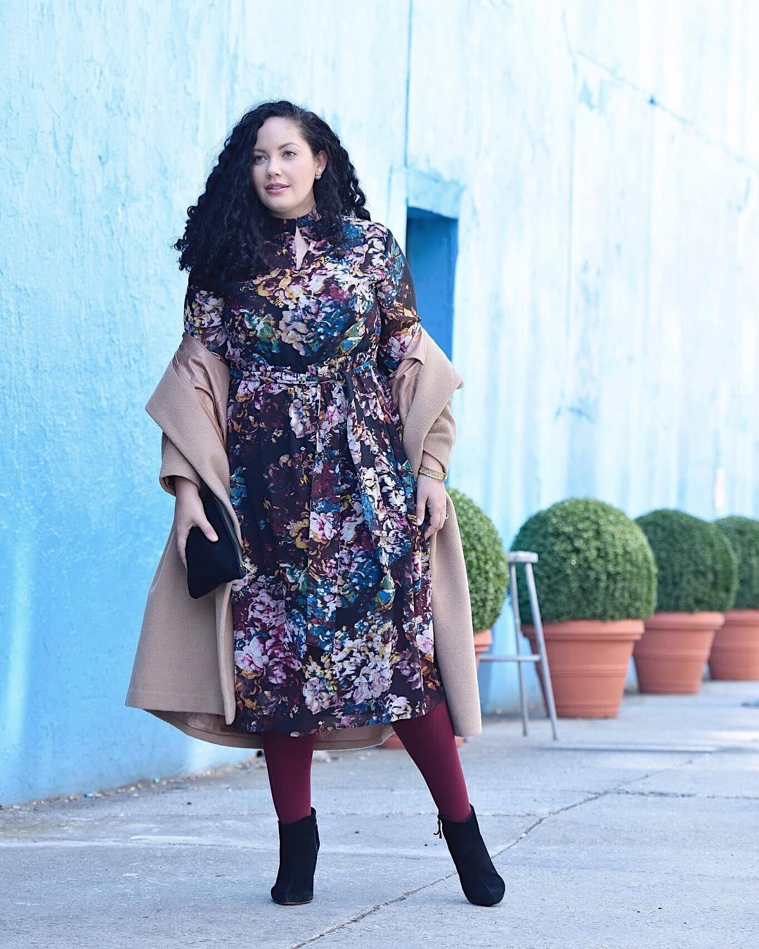 Модные зимние образы для полных женщин фото 8