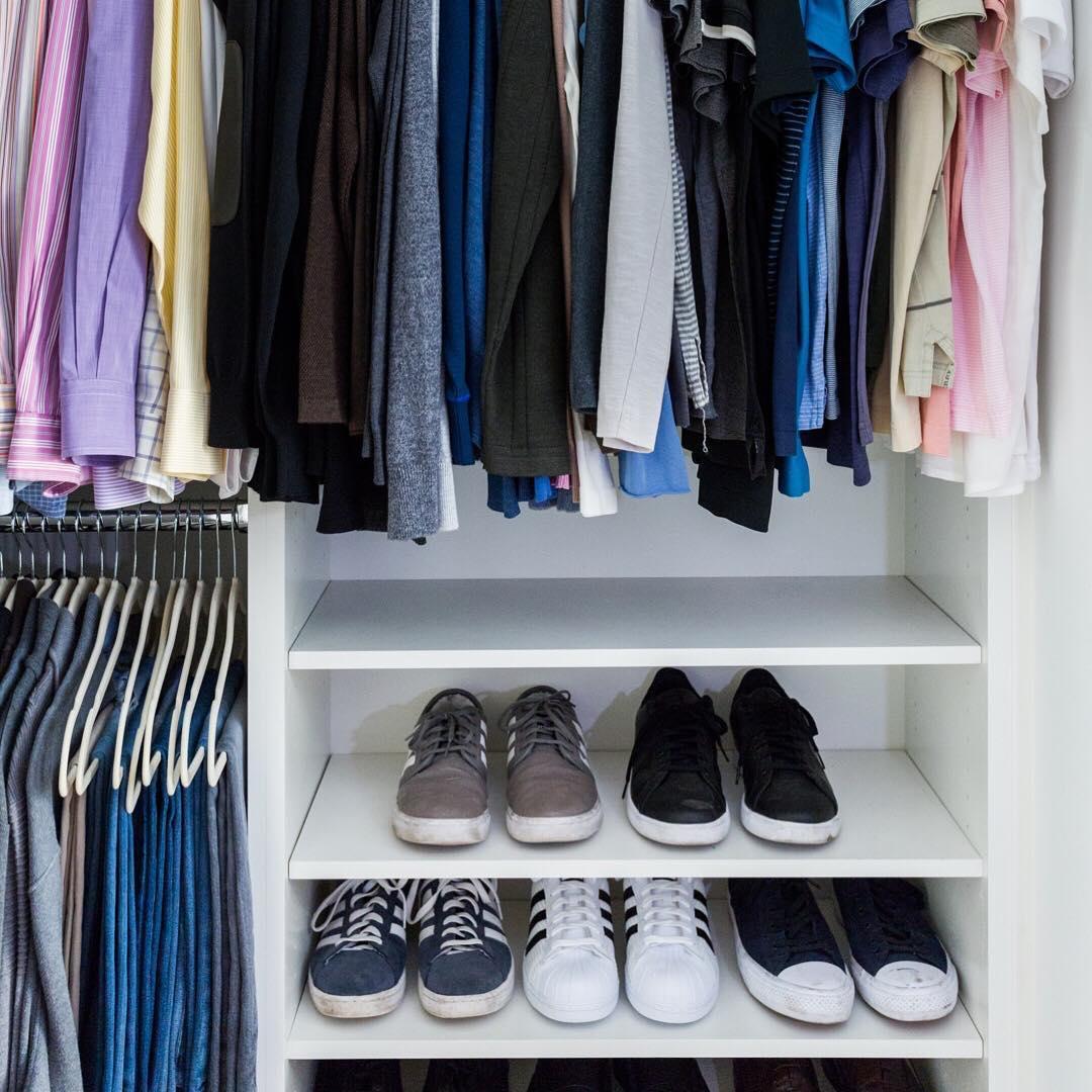 Организация пространства в гардеробной фото 5