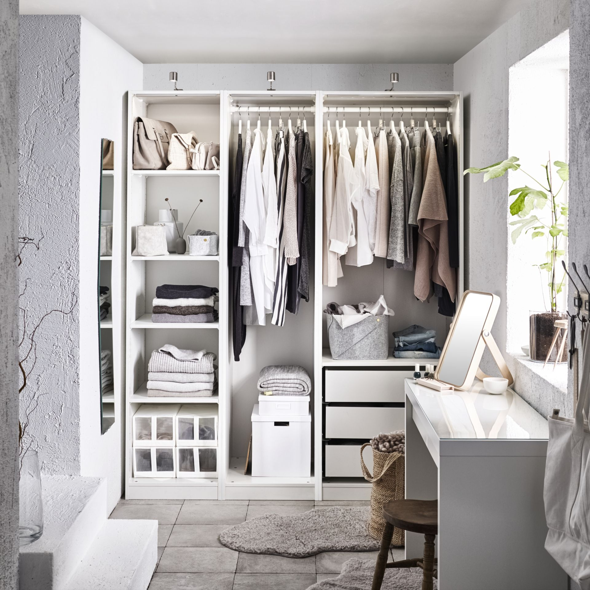гардеробная в маленькой квартире фото 15
