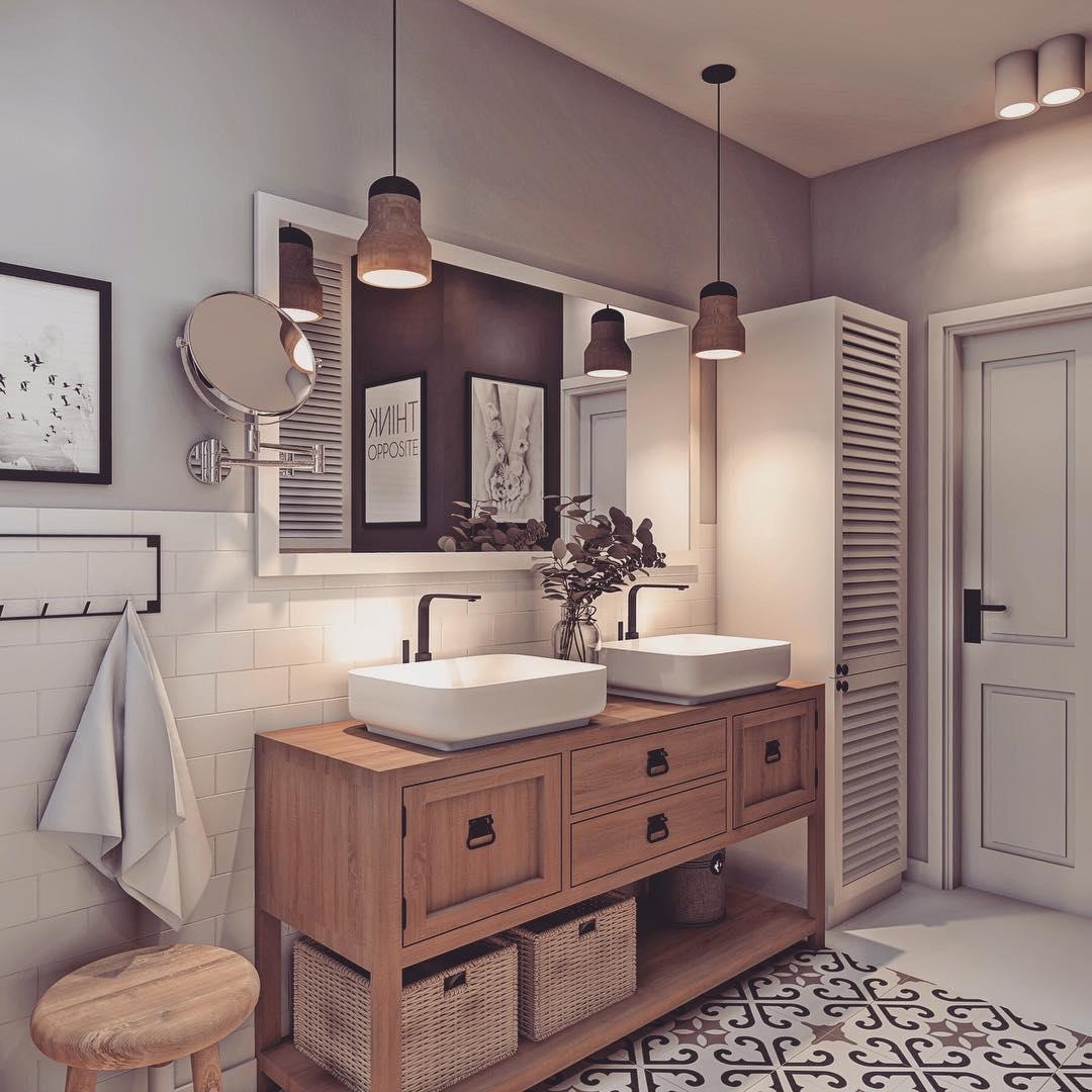 Декор интерьера ванной комнаты фото 7