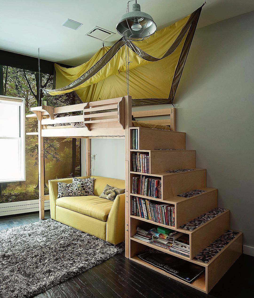 кровати в стиле лофт фото 11