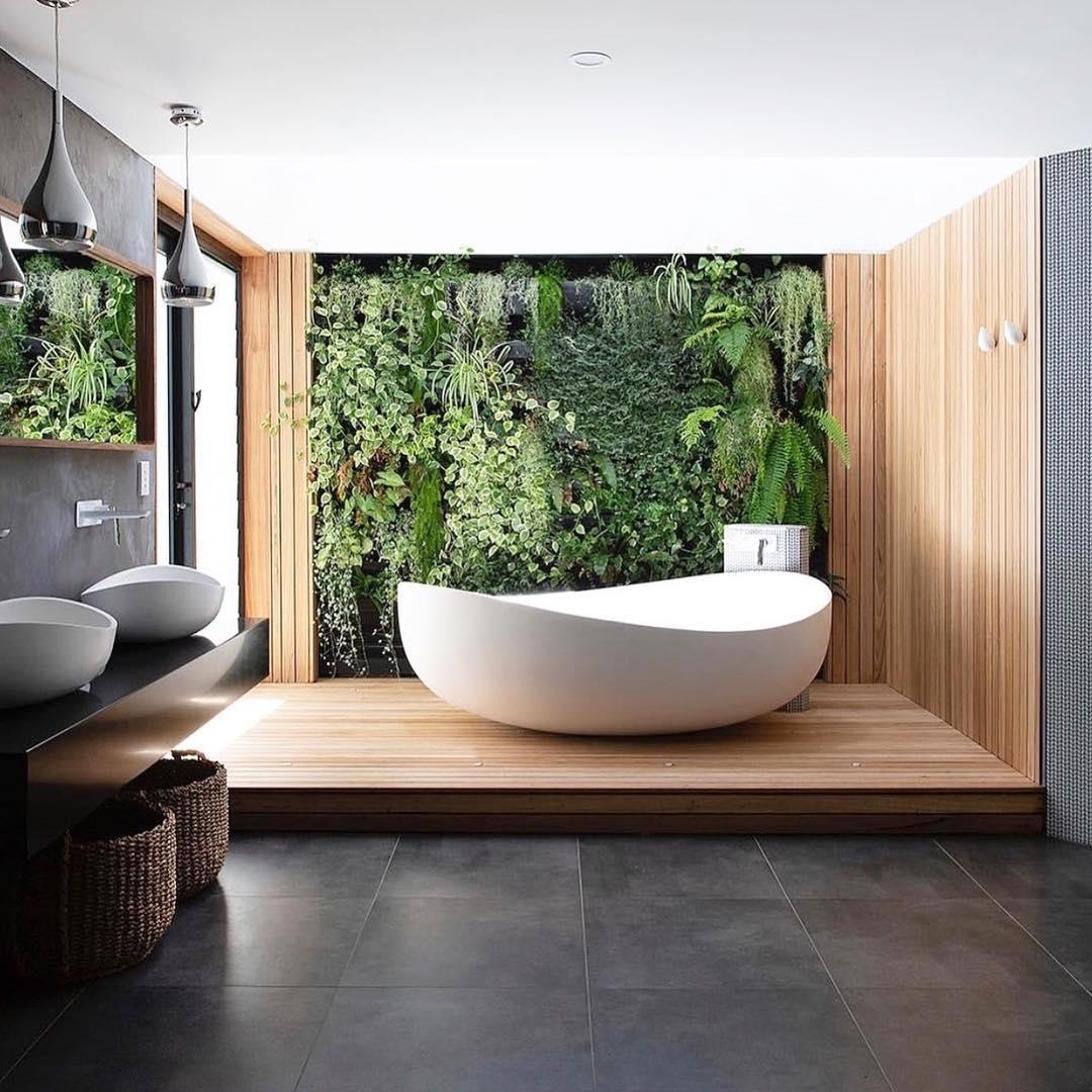 Декор интерьера ванной комнаты фото 3