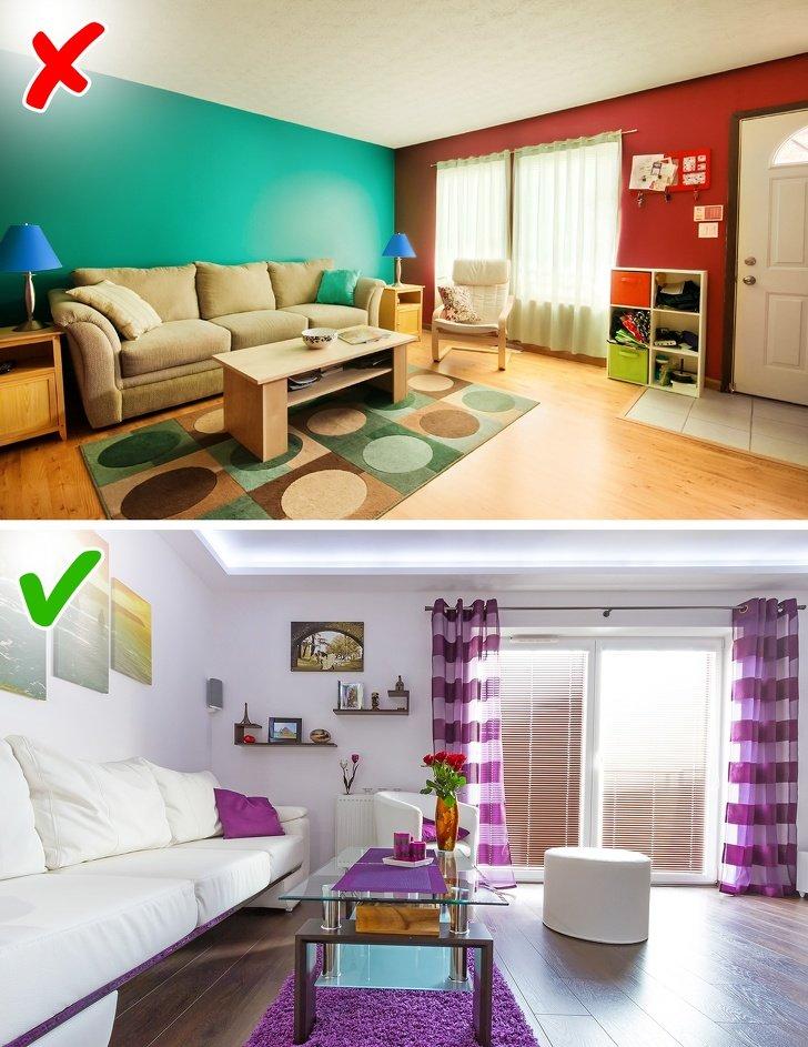 ошибки в дизайне маленьких комнат фото 4
