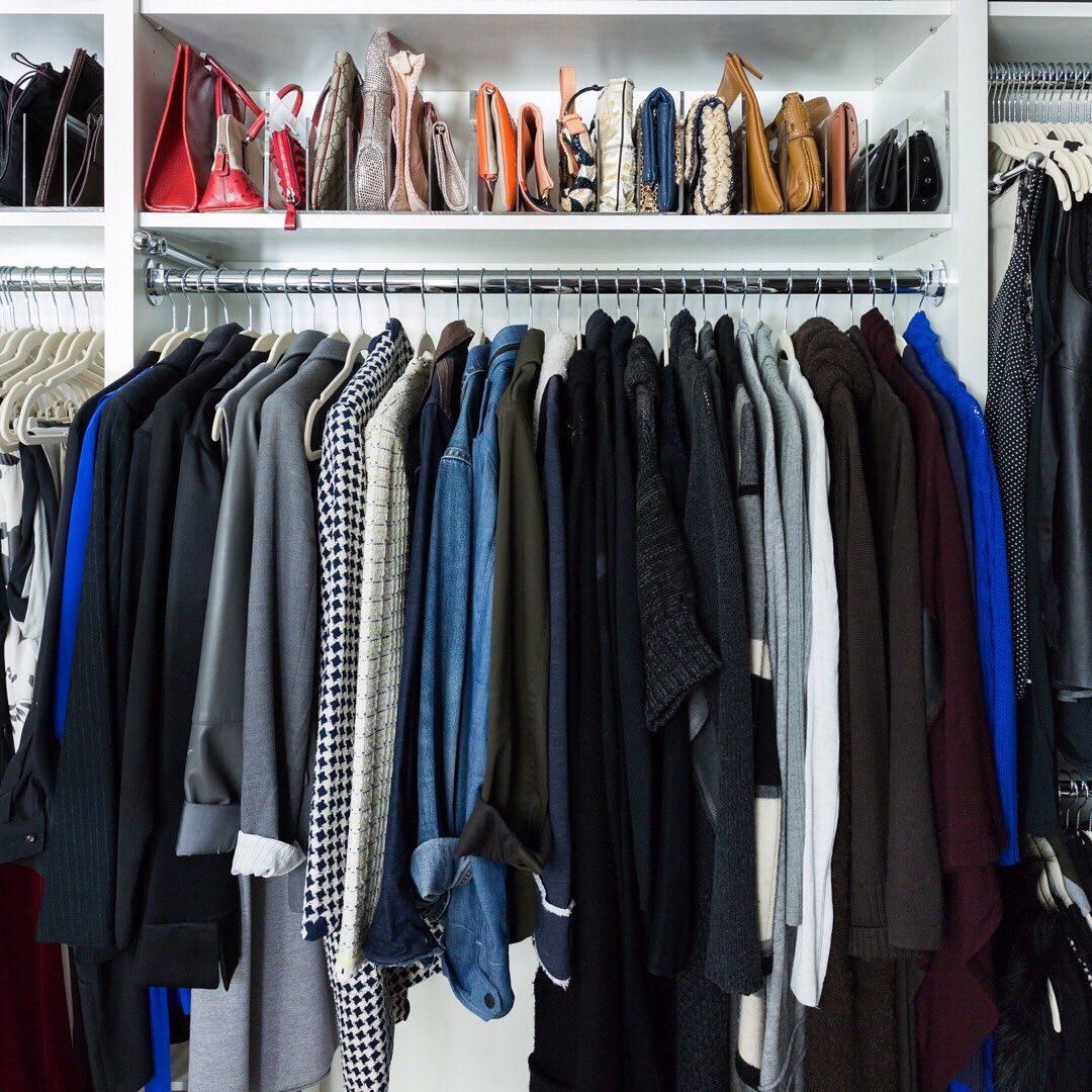 Организация пространства в гардеробной фото 10