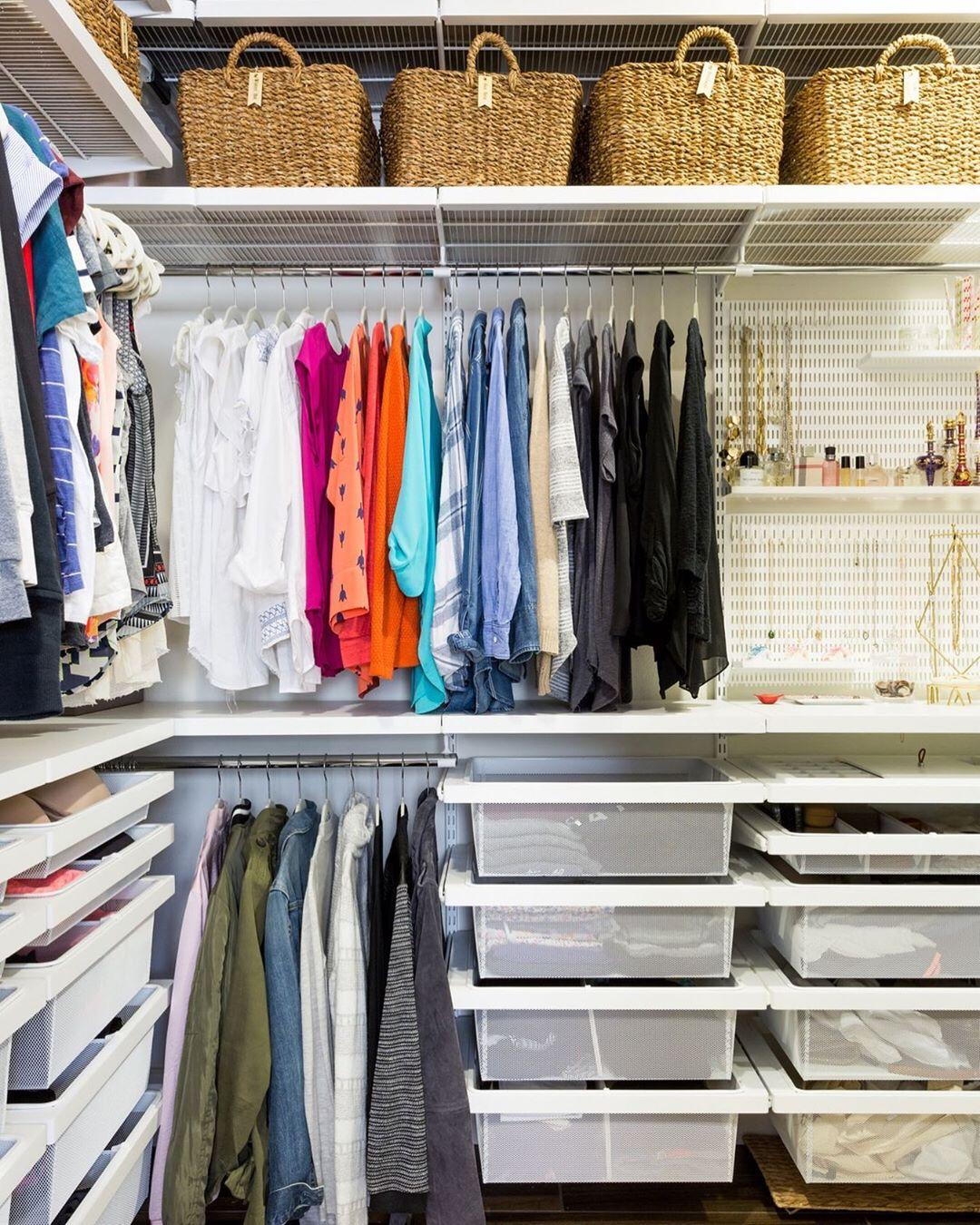 Организация пространства в гардеробной фото 9