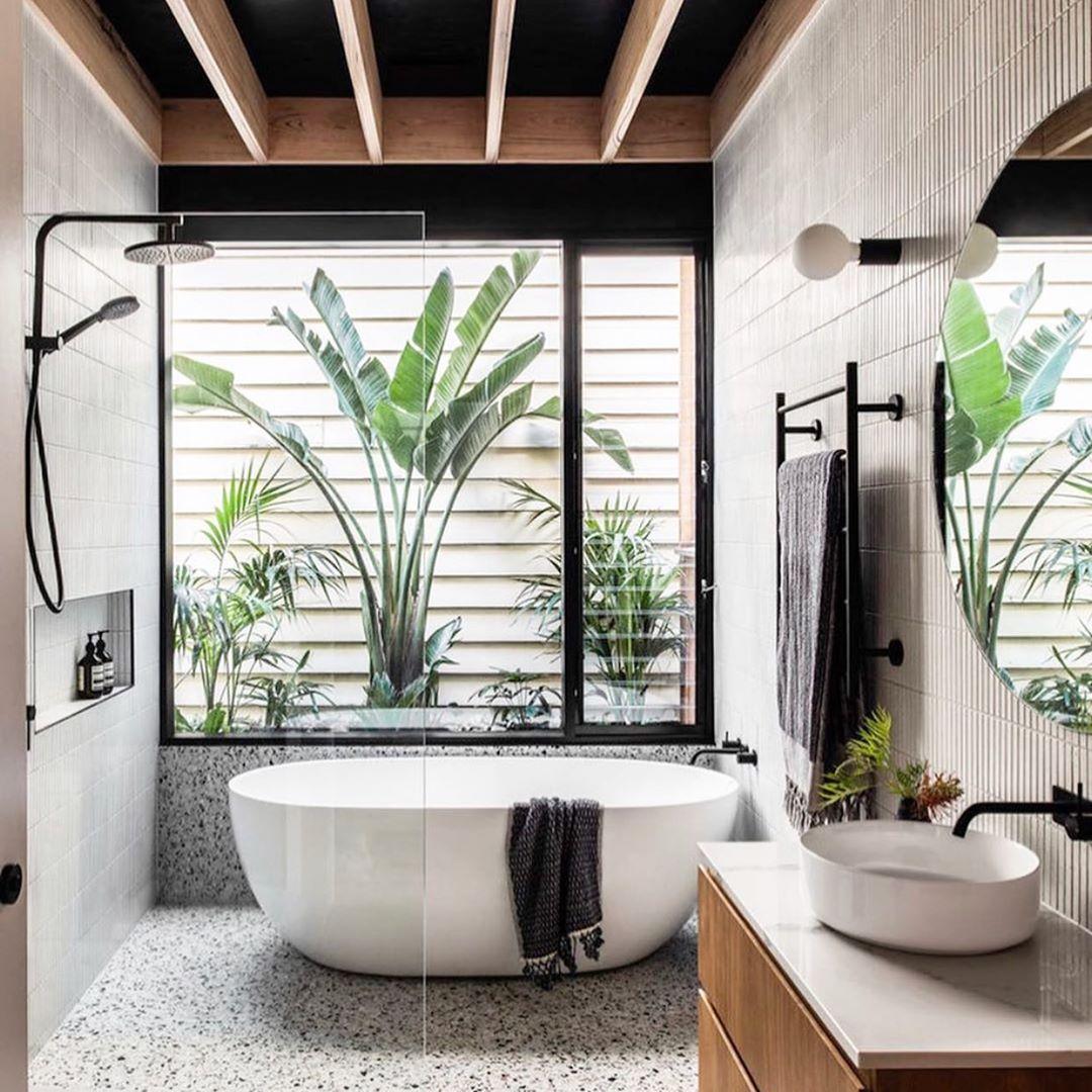 Декор интерьера ванной комнаты фото 5
