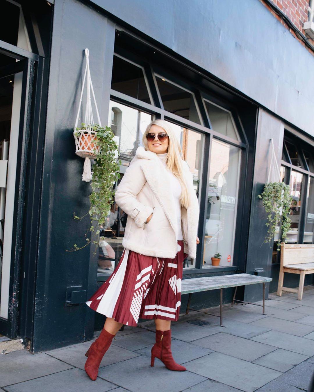 Модные зимние образы для полных женщин фото 5