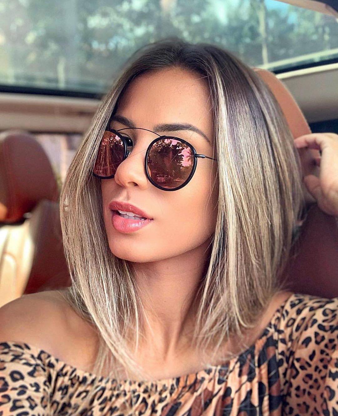 Объемные стрижки на средние волосы 2020 фото 6