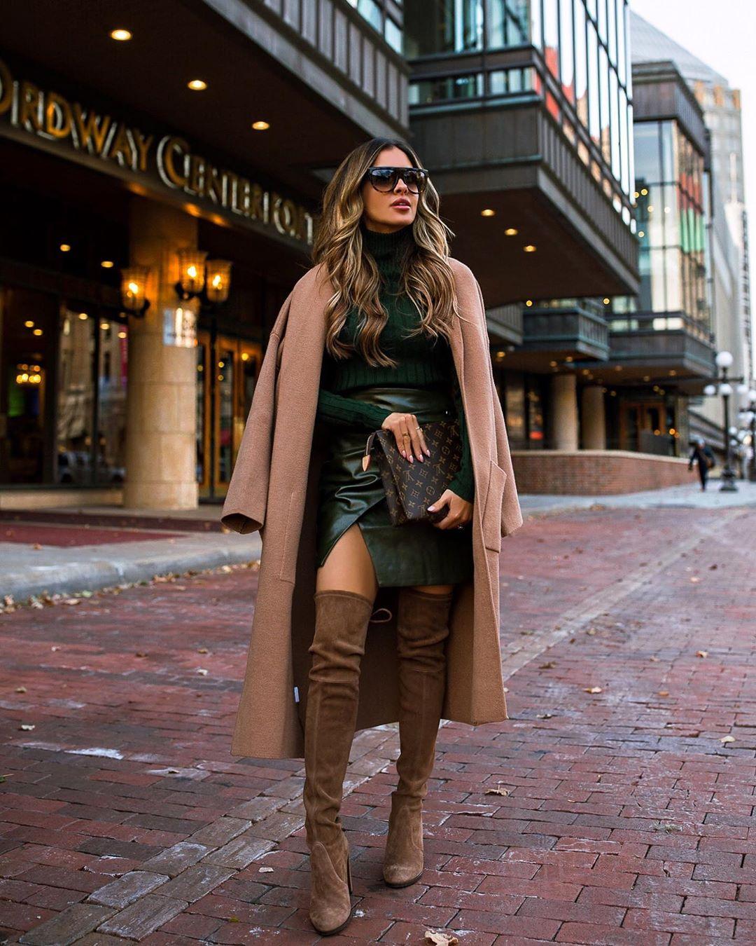с чем носить юбку зимой фото 8