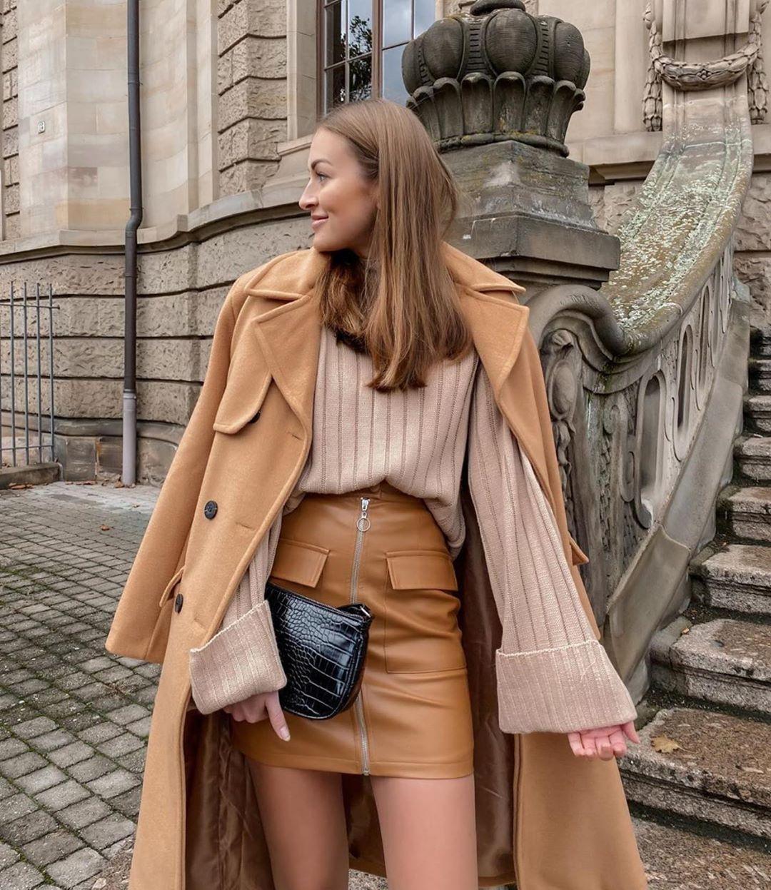 с чем носить пальто зимой фото 7