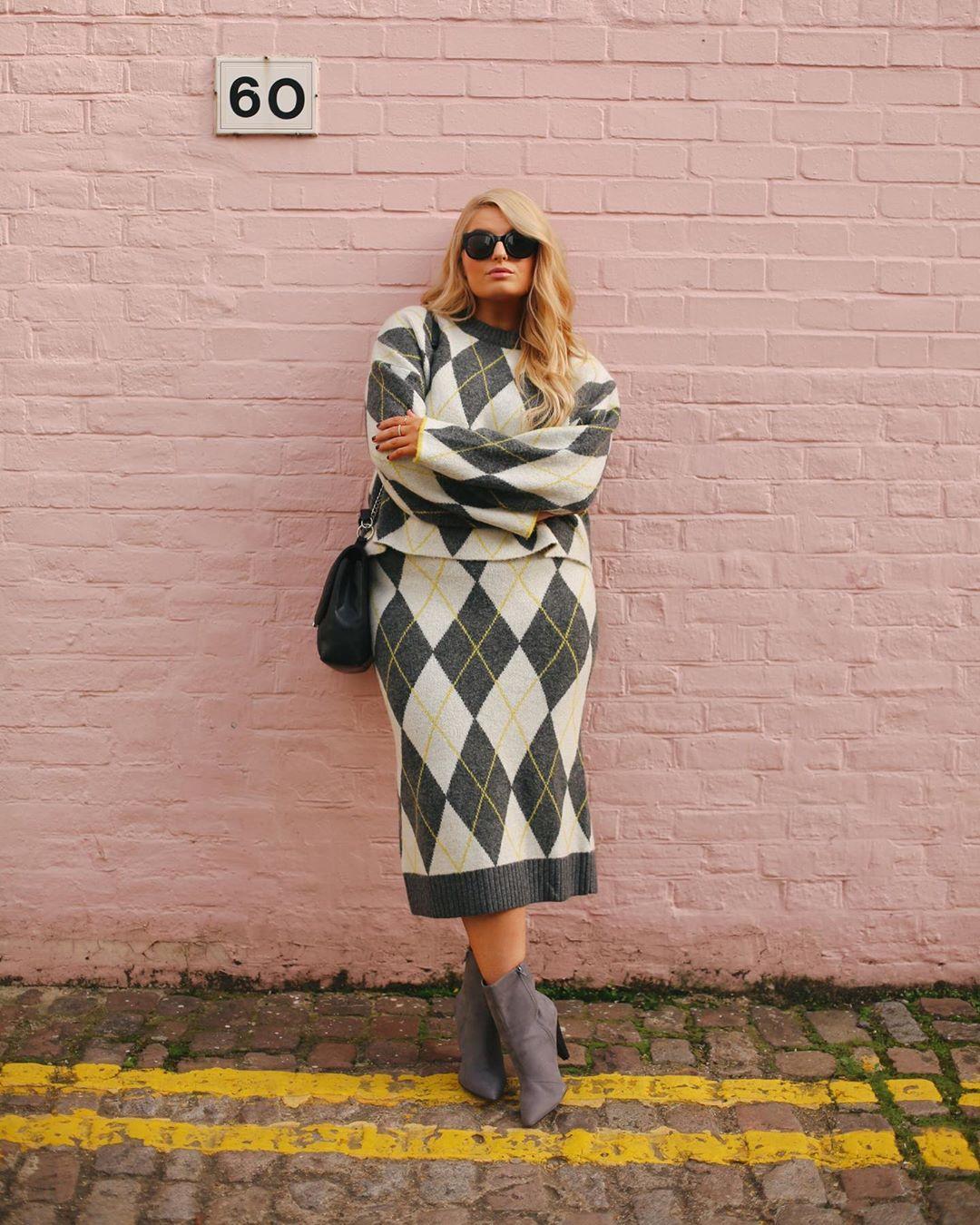 Модные зимние образы для полных женщин фото 6