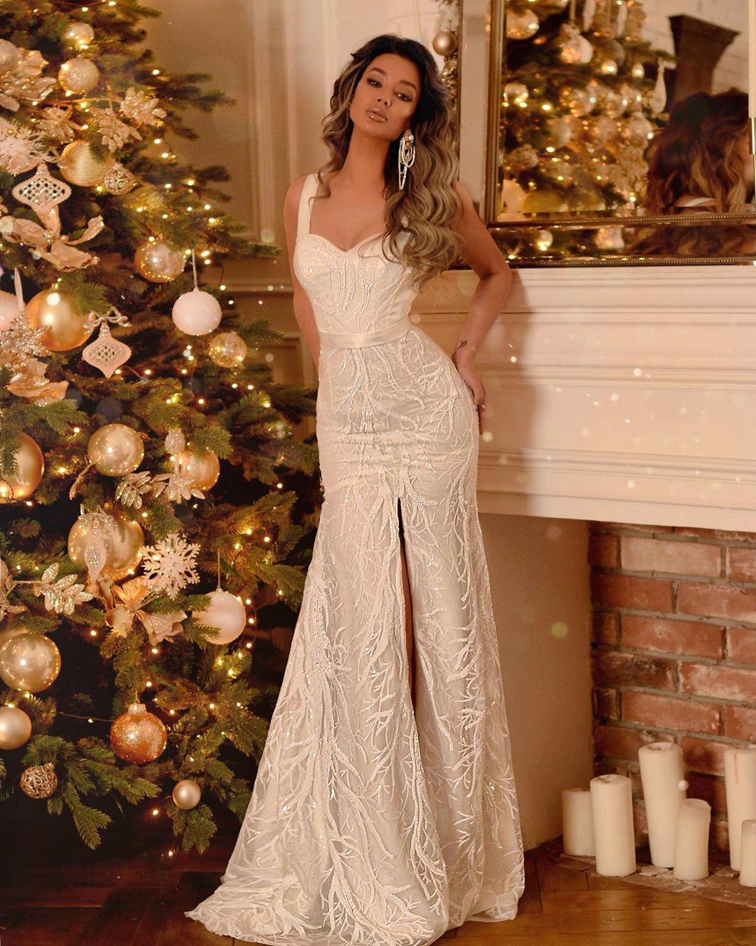 Самые красивые новогодние платья 2020 фото 9