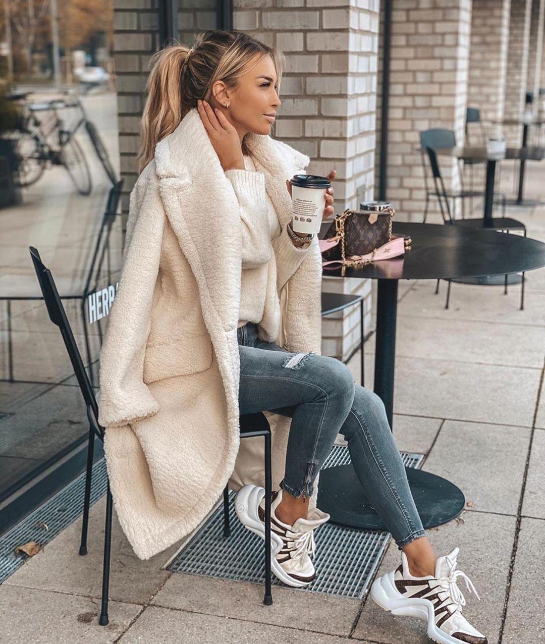 с чем носить пальто зимой фото 11