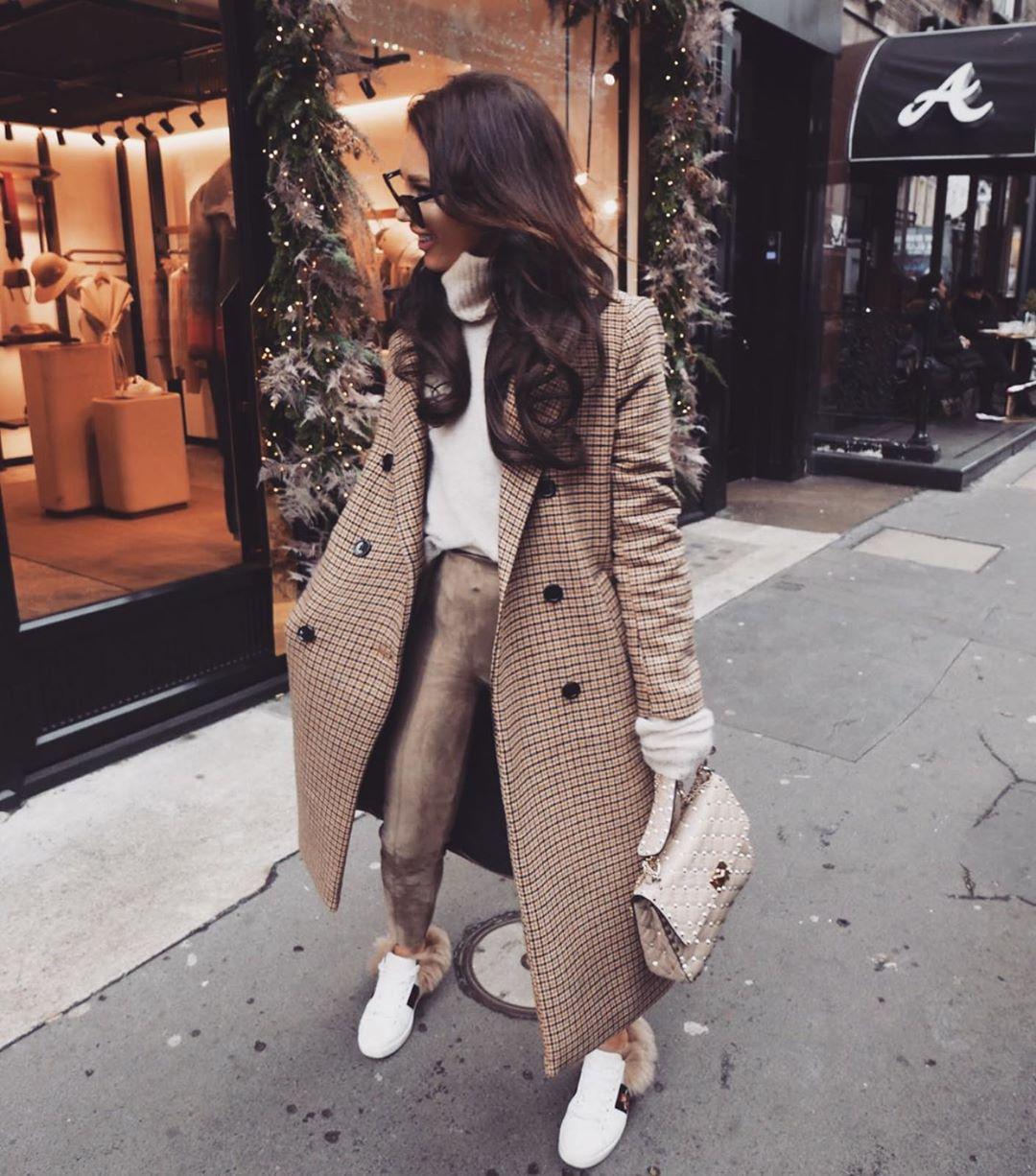 с чем носить пальто зимой фото 13