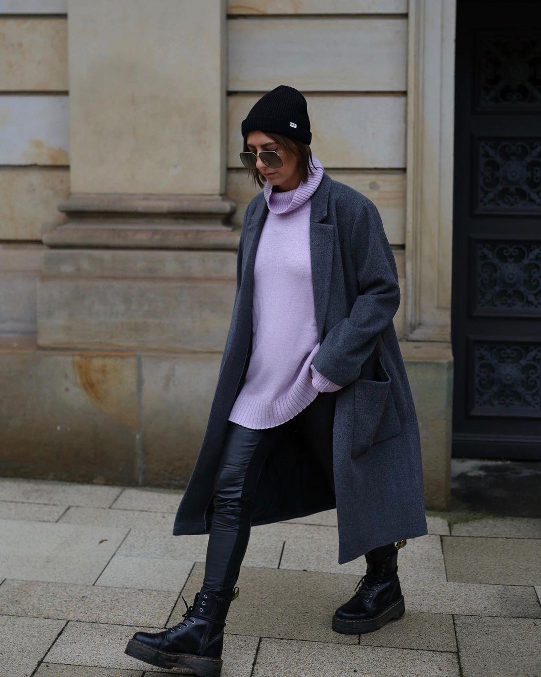 с чем носить пальто зимой фото 5