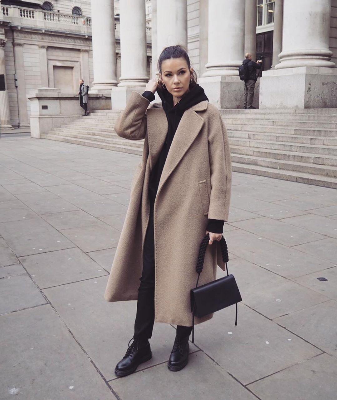 с чем носить пальто зимой фото 14