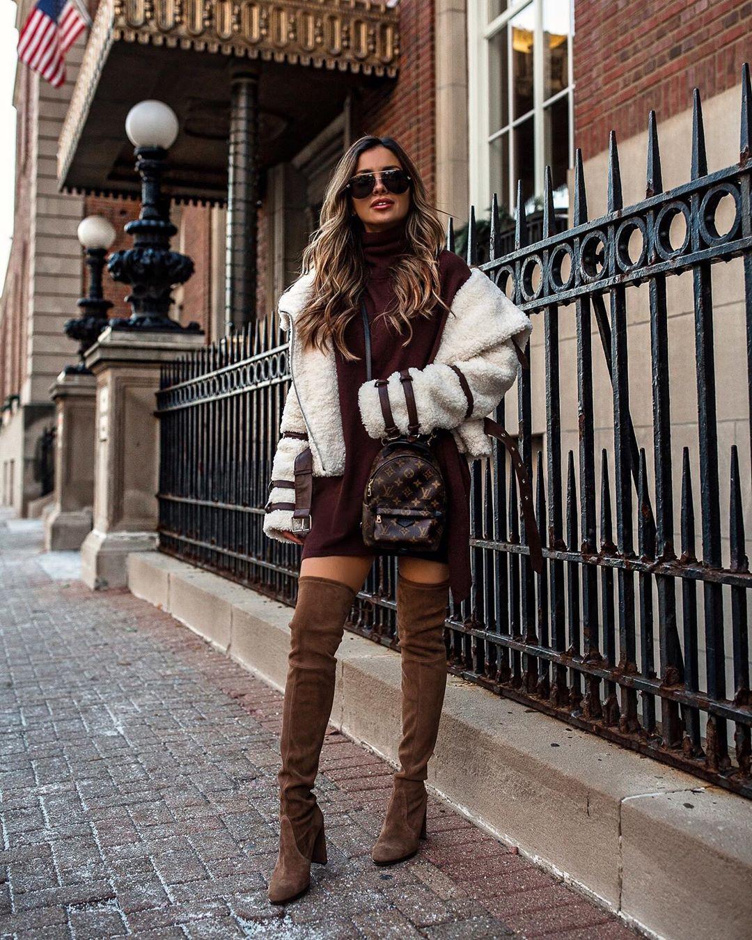 с чем носить платье зимой фото 10