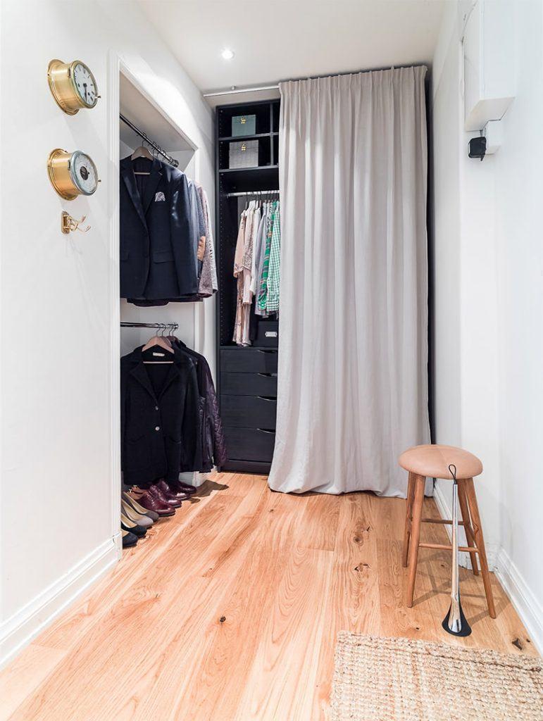 гардеробная в маленькой квартире фото 9