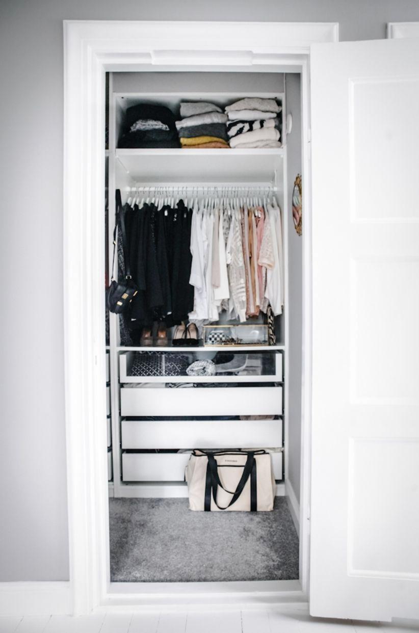 гардеробная в маленькой квартире фото 11