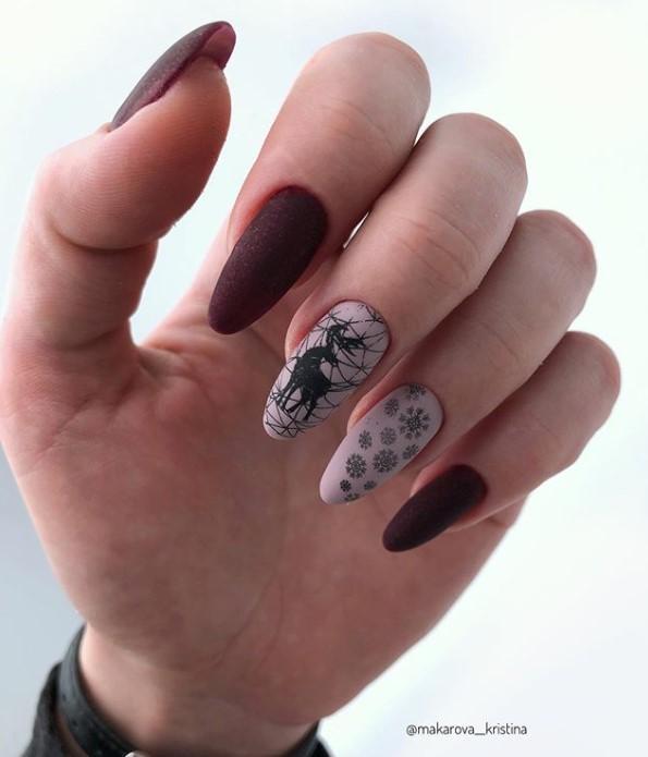 снежинки на ногтях фото 18
