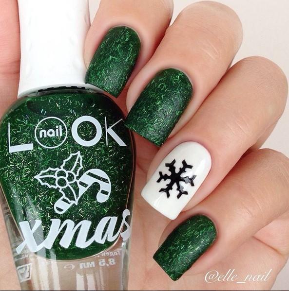 снежинки на ногтях фото 24