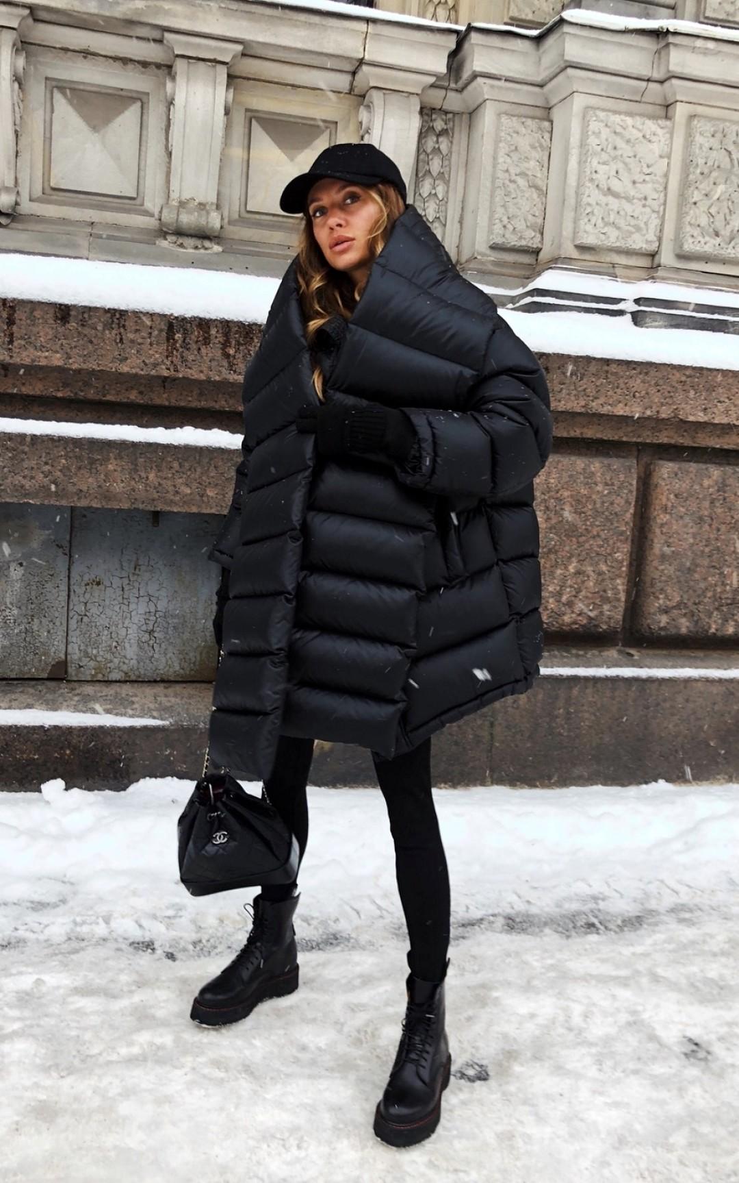 с чем носить черную зимнюю куртку фото 2