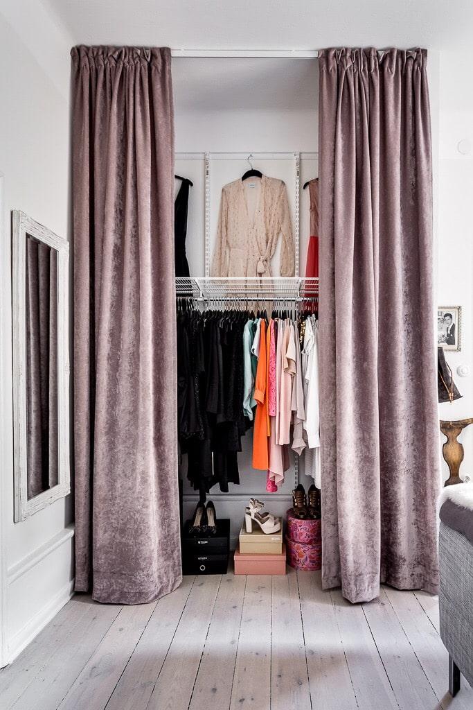 гардеробная в маленькой квартире фото 12