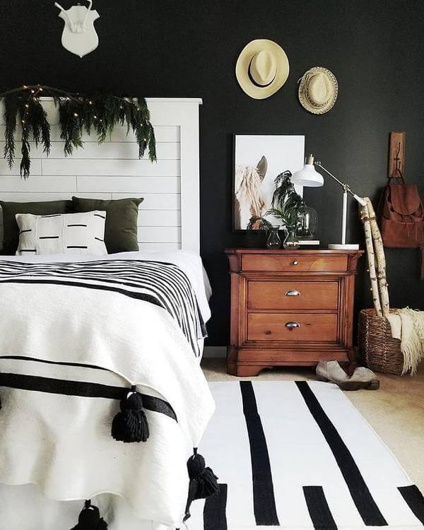 чёрно-белые идеи домашнего декора фото 8