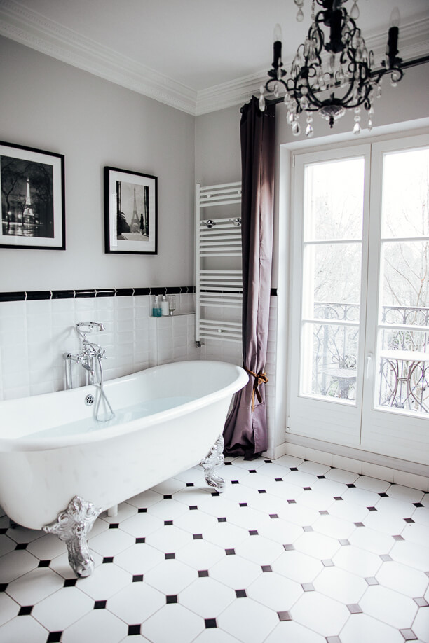чёрно-белые идеи домашнего декора фото 6
