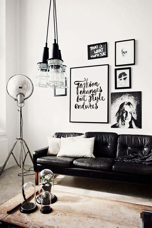 чёрно-белые идеи домашнего декора фото 3